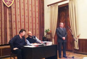 Дмитрий Гаврилов, Нурали Латыпов, Сергей Ёлкин в Центральном доме литераторов
